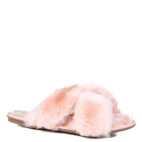 Rasteira Casual Zariff Fluffy Feminina - Rosa