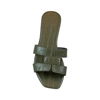 Rasteira Comfort Crocodiles Preto