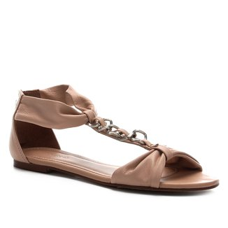 Rasteira Couro Shoestock Corrente