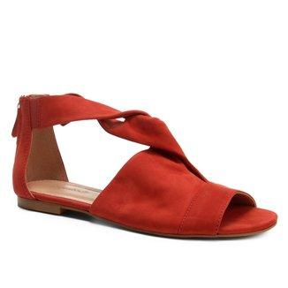 Rasteira Couro Shoestock Entrelace