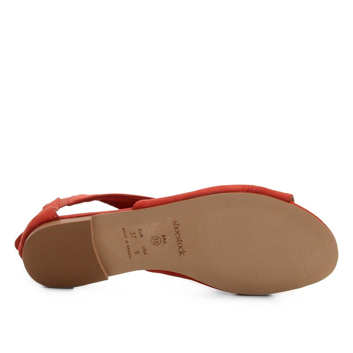 Couro Vermelho Couro Couro Shoestock Vermelho Rasteira Entrelace Entrelace Rasteira Shoestock Rasteira Shoestock AP4qw8xU8