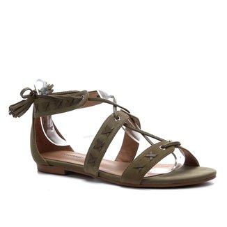 Rasteira Couro Shoestock Flat Tassel