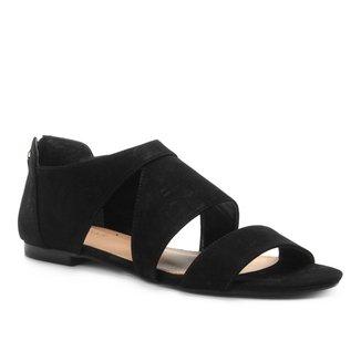 Rasteira Couro Shoestock Nobuck Recortes