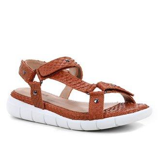 Rasteira Couro Shoestock Papete Cobra