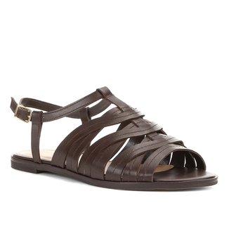 Rasteira Couro Shoestock Pesponto