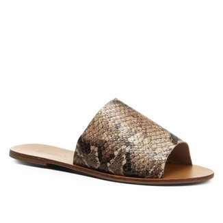 Rasteira Couro Shoestock Slide Cobra