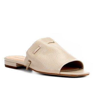 Rasteira Couro Shoestock Slide Feminina