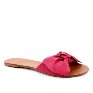 Rasteira Couro Shoestock Slide Laço