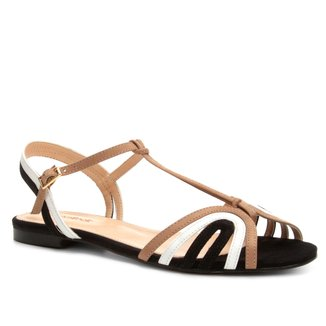 Rasteira Couro Shoestock Tiras Colors