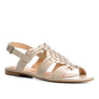 Rasteira Couro Shoestock Trama