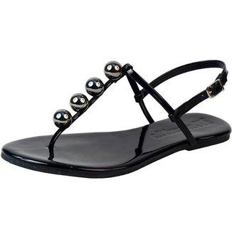 Rasteira Flat Bolinhas Mercedita Shoes Confortável Dia a Dia Casual