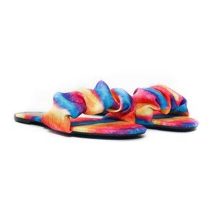 Rasteira Flat - Katy, Tie Dye Rainbow Feminino