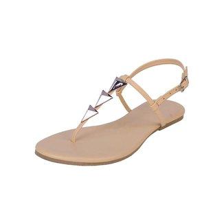 Rasteira Flat Pirâmide Mercedita Shoes Confortável Dia a Dia Casual Feminina