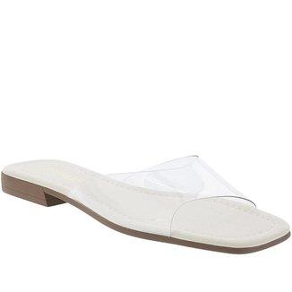 Rasteira Gabriela Tira Vinil Off White