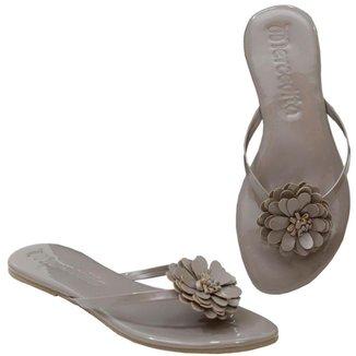 Rasteira Mercedita Shoes Flor Confortável Feminina