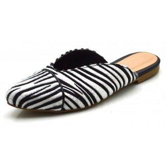 Rasteira Mule Feminina Ellas Online Zebra