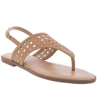 Rasteira Penélope Sandal Thong Perfuros Feminina