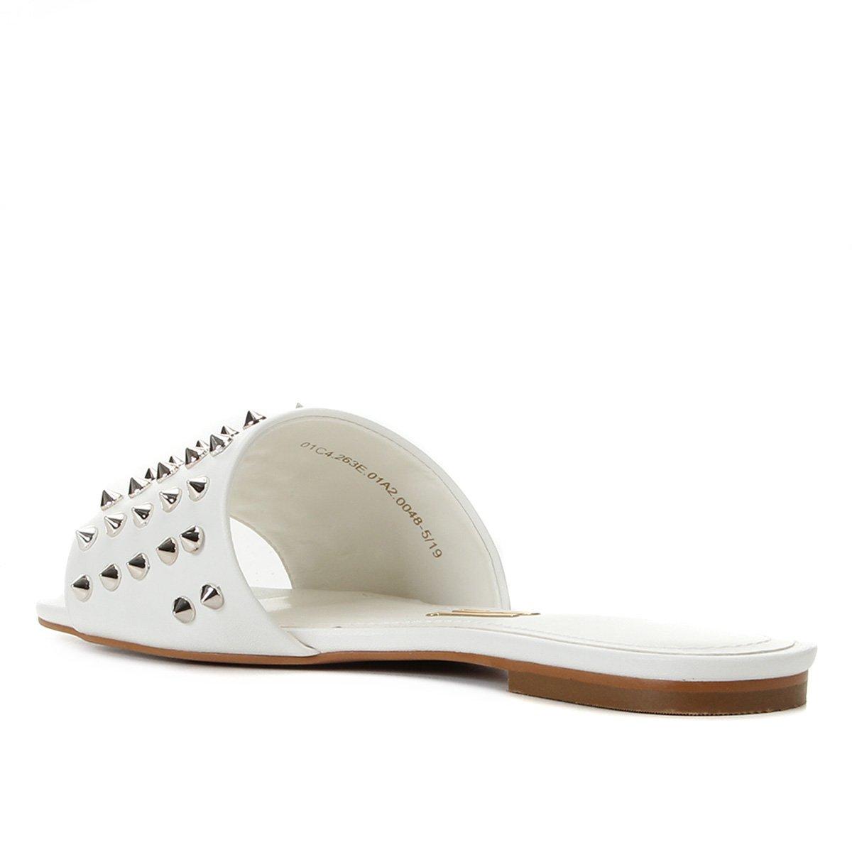 Rasteira Santa Lolla Slide Spikes - Branco