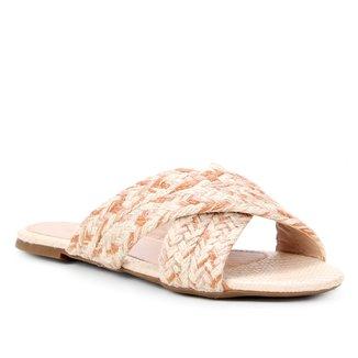 Rasteira Shoestock Corda Tiras Trançadas