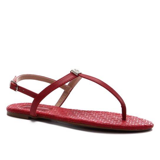 Rasteira Shoestock Crazy for - Vermelho