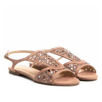 Rasteira Shoestock Cristais