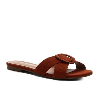 Rasteira Shoestock Entrelaço Nobuck