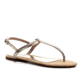 Rasteira Shoestock Flat Ráfia