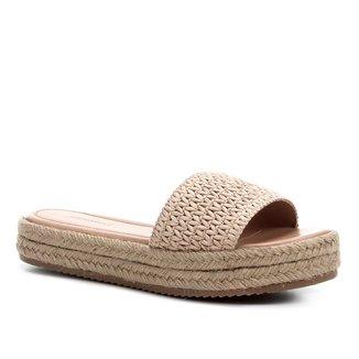 Rasteira Shoestock Flatform Palha