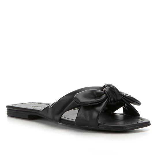 Rasteira Shoestock Laço - Preto