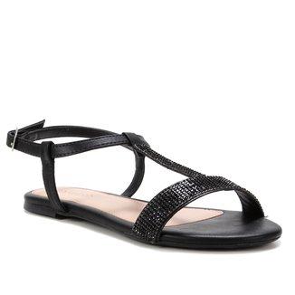 Rasteira Shoestock Malha Strass