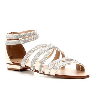 Rasteira Shoestock Mini Malha Strass
