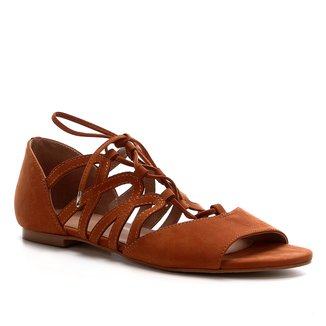 Rasteira Shoestock Nobuck Lace