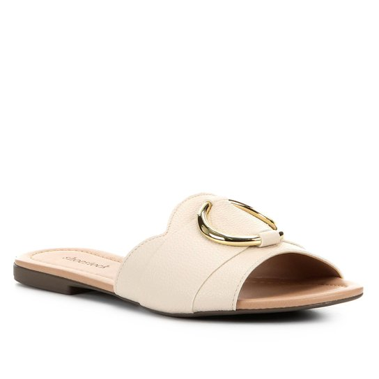Rasteira Shoestock Slide Argola - Off White