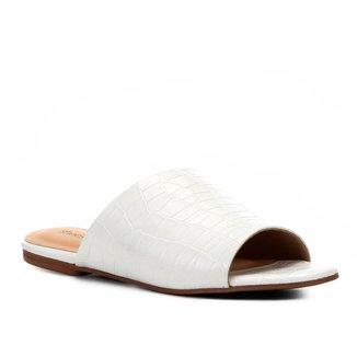 Rasteira Shoestock Slide Croco