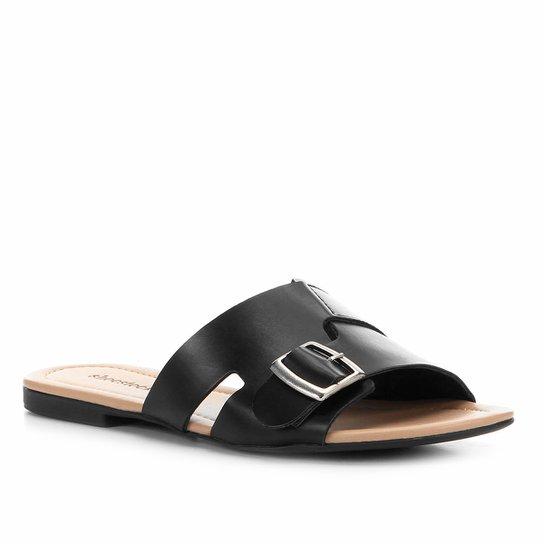 Rasteira Shoestock Slide Fivela - Preto