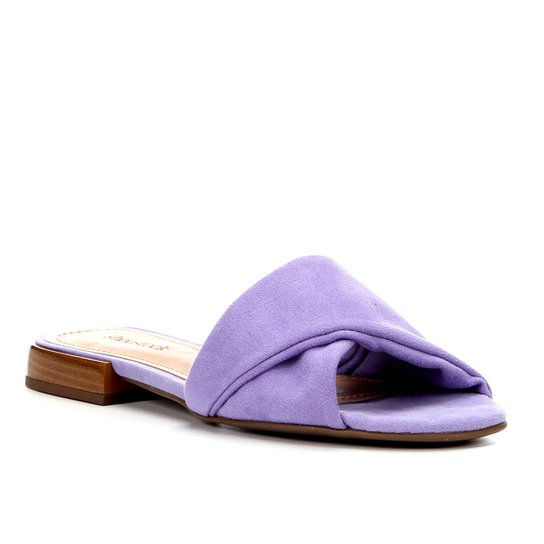 Rasteira Shoestock Slide Recorte - Lilás
