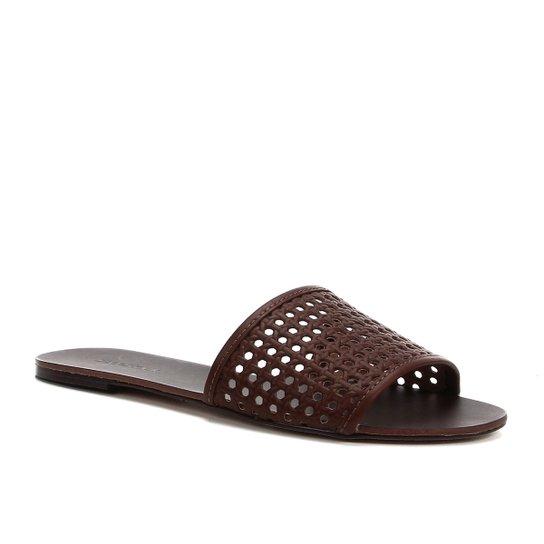 Rasteira Shoestock Slide Tramado - Marrom Claro
