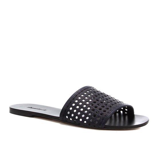 Rasteira Shoestock Slide Tramado - Marinho