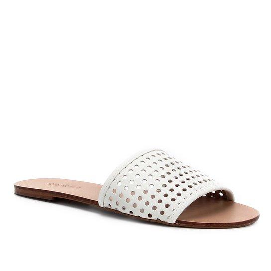 Rasteira Shoestock Slide Tramado - Branco