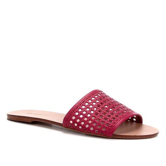 Rasteira Shoestock Slide Tramado - Rosa