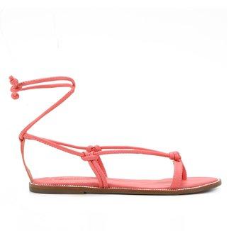 Rasteira Shoestock Tiras Amarração
