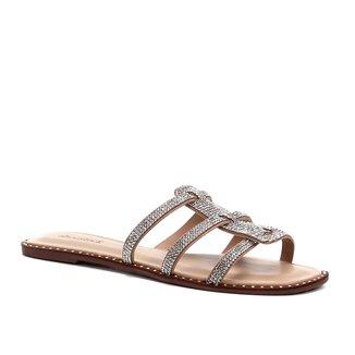 Rasteira Shoestock Tiras Malha