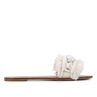 Rasteira Slide Shoestock Franjas