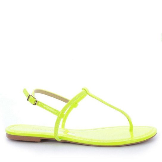 Rasteira Teka 4092-05708 Di Valentini Verniz Neon Verde (Marta Lima) Verde - 39 - Verde