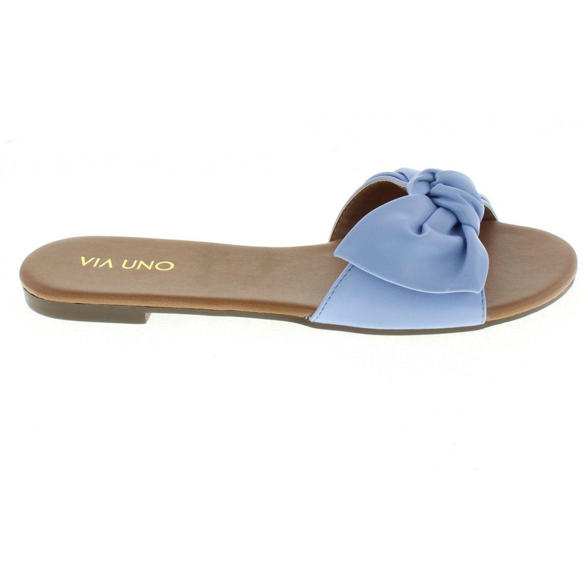 Rasteira Via Uno saavv Slide Feminina - Azul