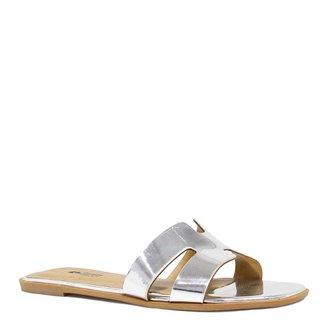 Rasteira Zariff Shoes Verniz Metalizada