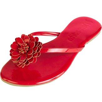 Rasteirinha Feminina Mercedita Shoes Conforto Flor