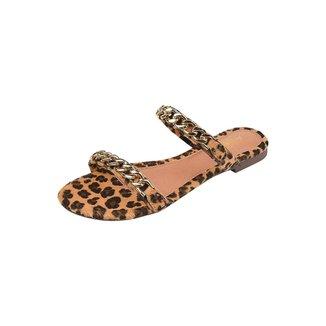 Rasteirinha Feminina Uzze Sapatos 2 Correntes
