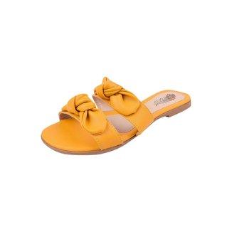 Rasteirinha Feminina Uzze Sapatos 2 Laço