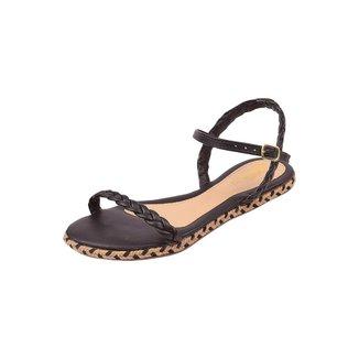 Rasteirinha Feminina Uzze Sapatos Trançada